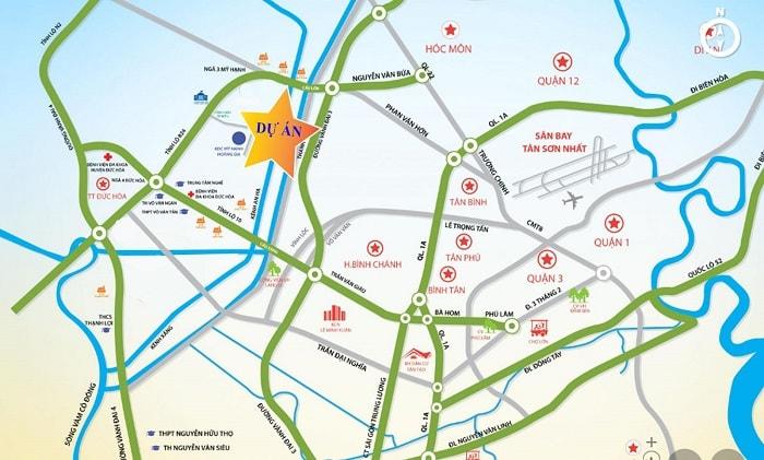 vị trí dự án Phuc An City