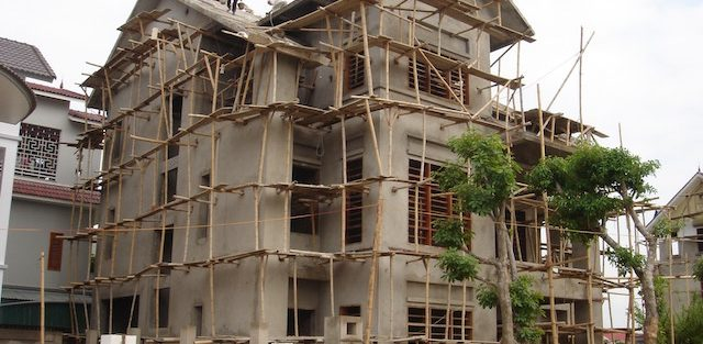 Công trình Nhà ở riêng lẻ đang được xây dựng