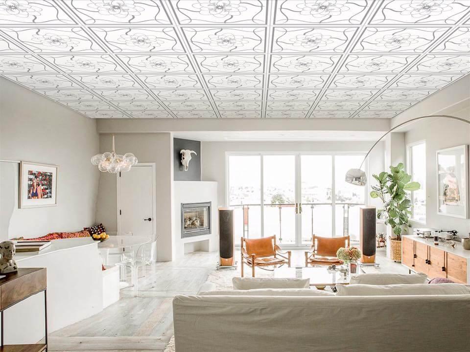 Các mẫu trần nhà bằng nhựa đẹp.