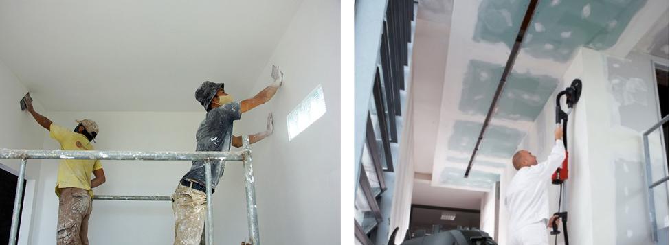 Làm sạch tường quét vôi trước khi sơn