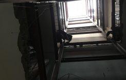 Lắp đặt khung thang máy từ tầng 1 lên tầng 8 cho nhà Anh Đăng
