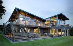 """Những mẫu nhà khung thép đẹp nhất khiến ngôi nhà nổi """"bần bật"""" giữa phố"""